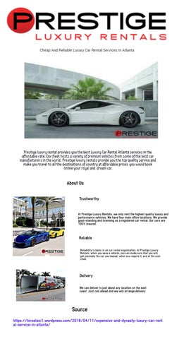 Luxury Car Rental Atlanta By Prestigeluxuryrentals Issuu