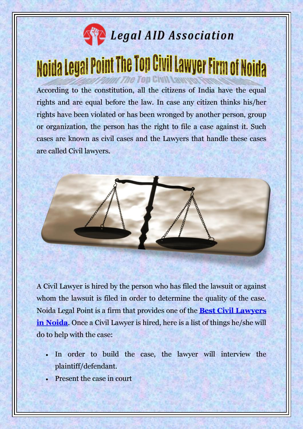 Noida Legal Point The Top Civil Lawyer Firm of Noida by
