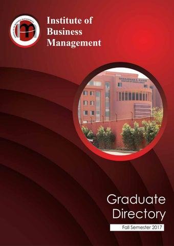 Graduate Directory Fall 2017 By Iobm Issuu