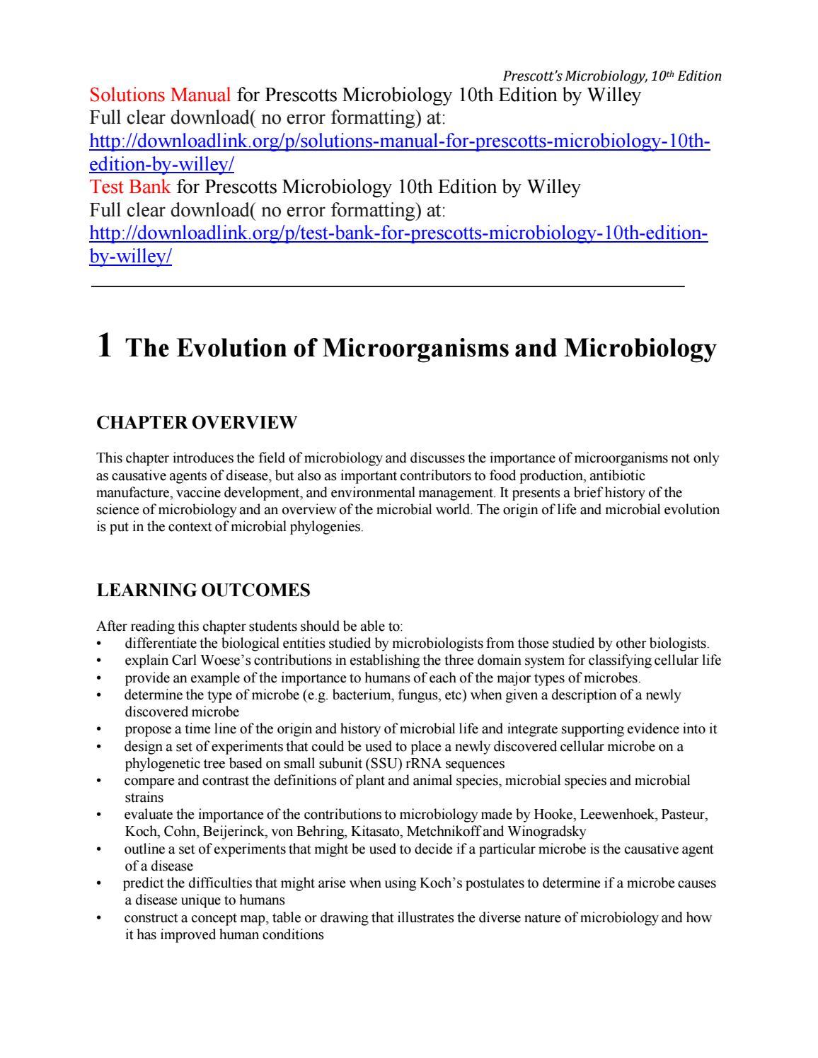 Prescott Microbiology 8th Edition Ebook