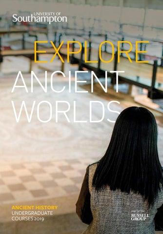 Ancient History Undergraduate Brochure 2019 By University Of