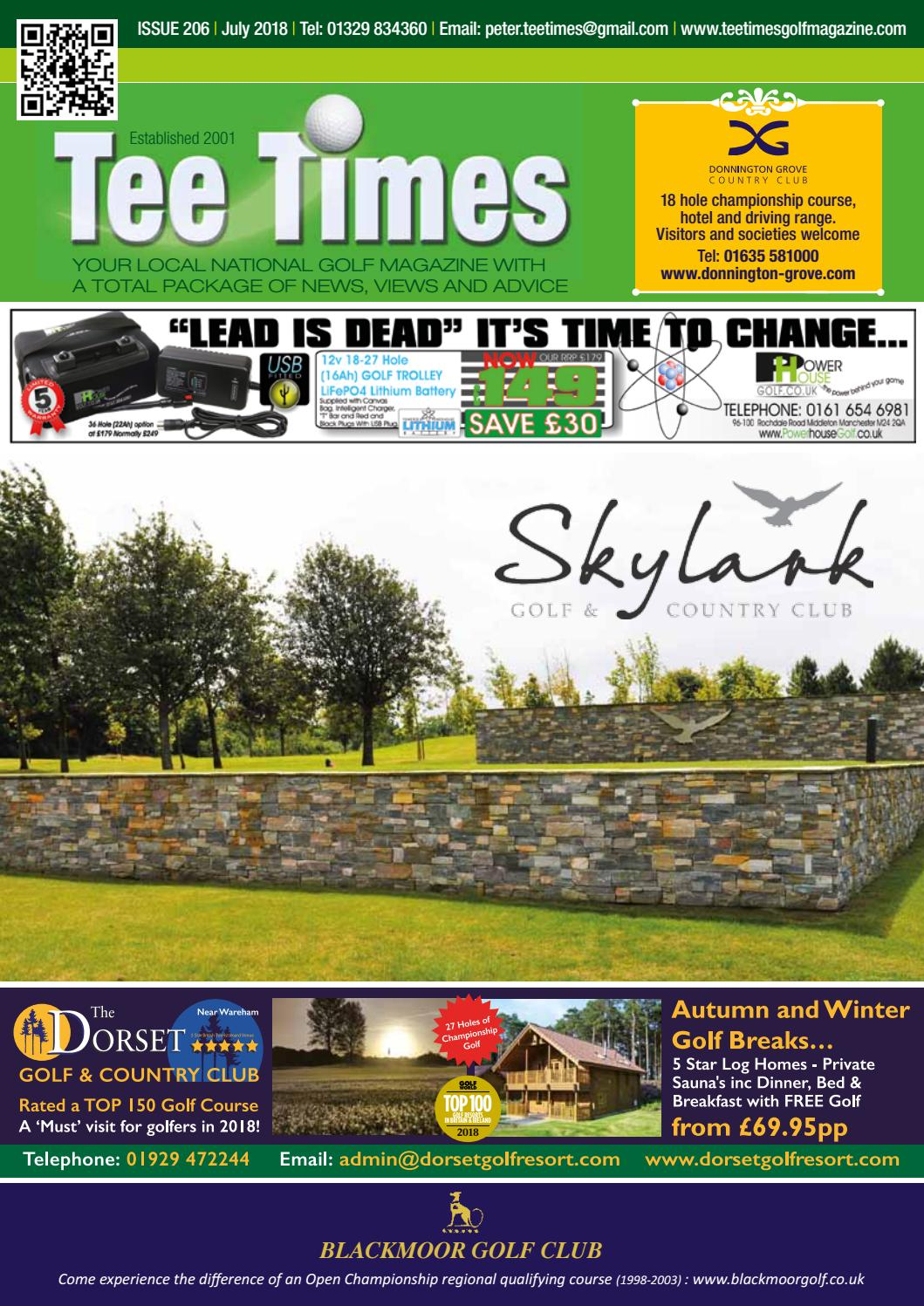 Tee Times Golf Magazine, July 2018 by Tee Times Golf