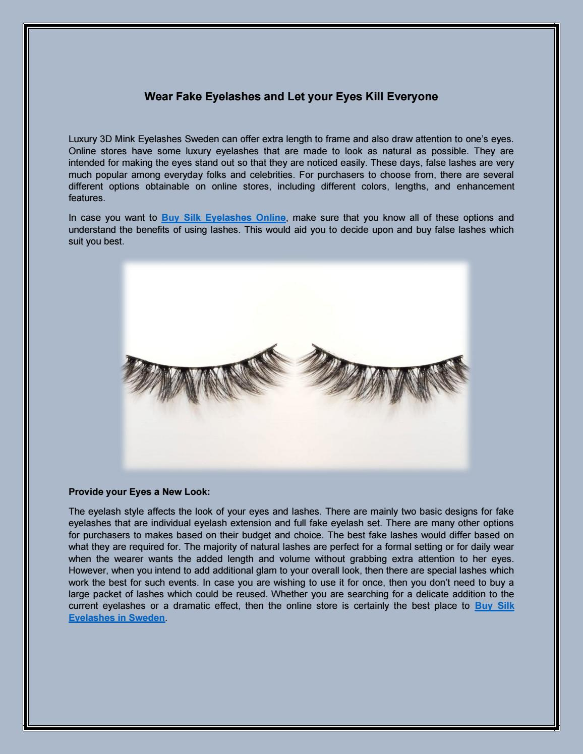 a24709ef74b Luxury 3D Mink Eyelashes Sweden | Buy Silk Eyelashes in Sweden | Buy Silk  Eyelashes Online by Be A Million - issuu