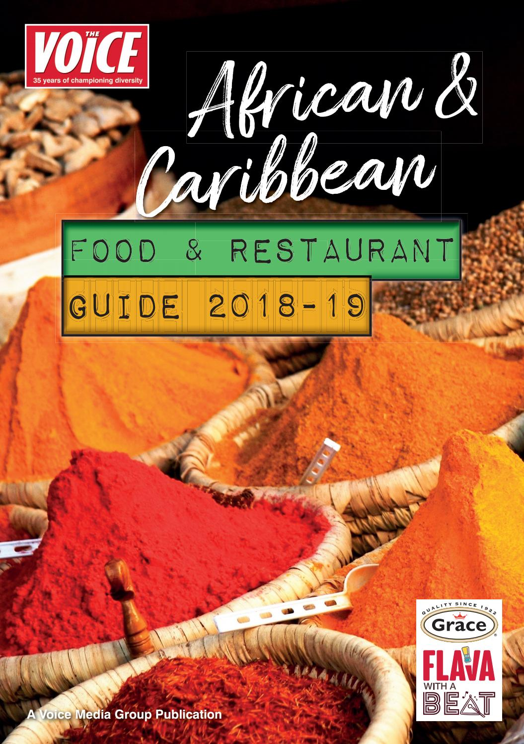 The Voice African Caribbean Food Restaurant Guide 2018