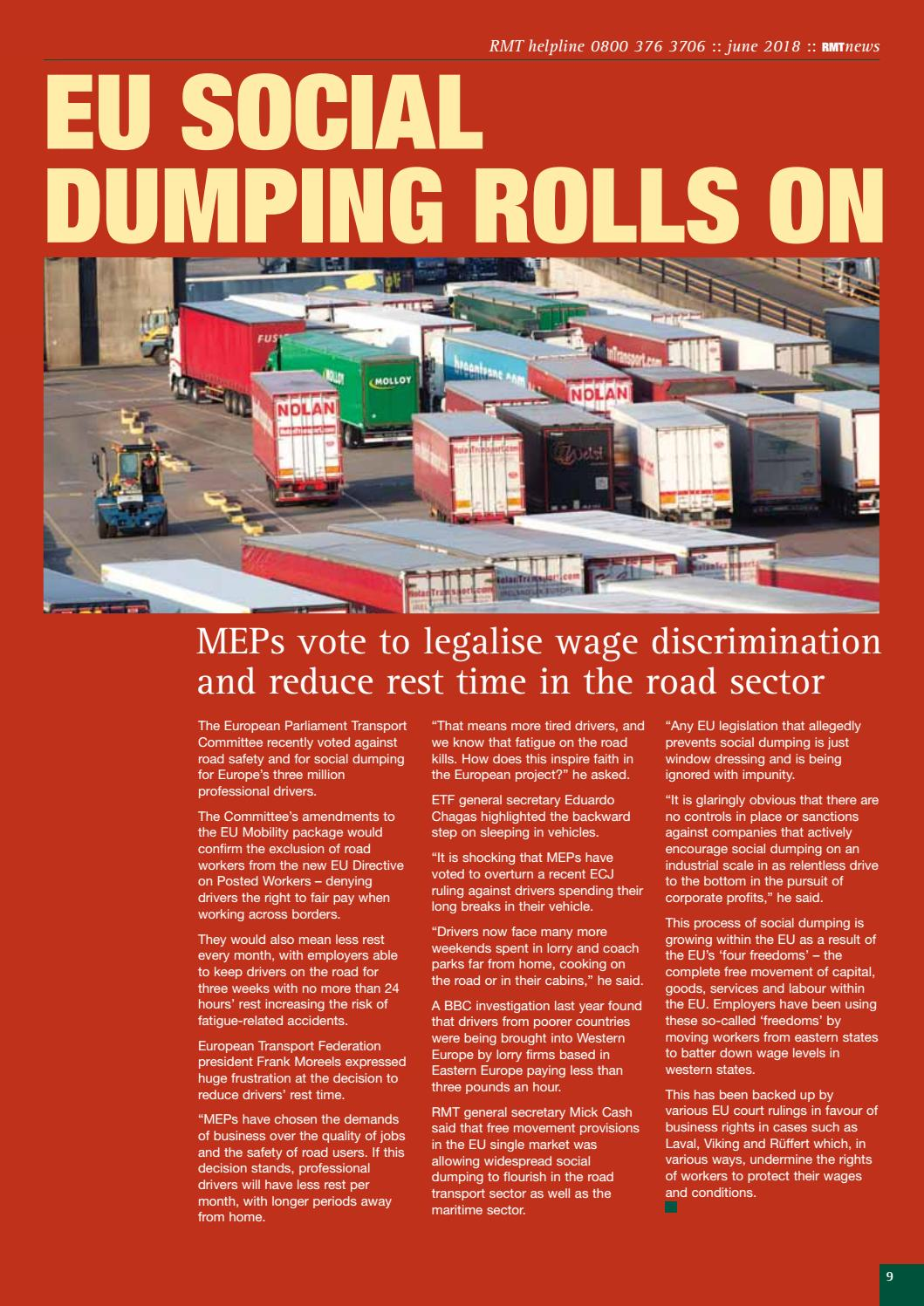 RMT News June 2018 by RMT Union - issuu
