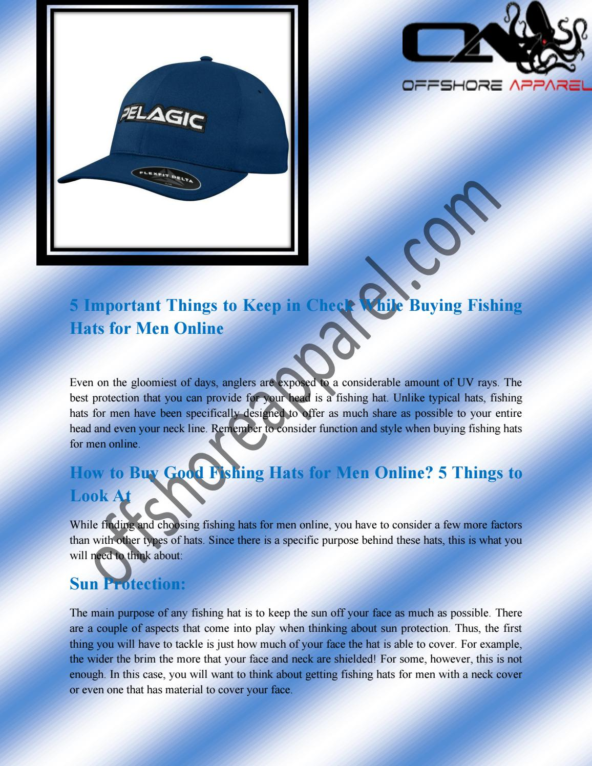 ffe68982 Buy Luxury Fishing Hats for Men Online at Best Price in Florida by ...