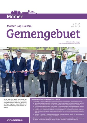 Gemengebuet Mamer 032018 By Administration Communale Mamer Issuu