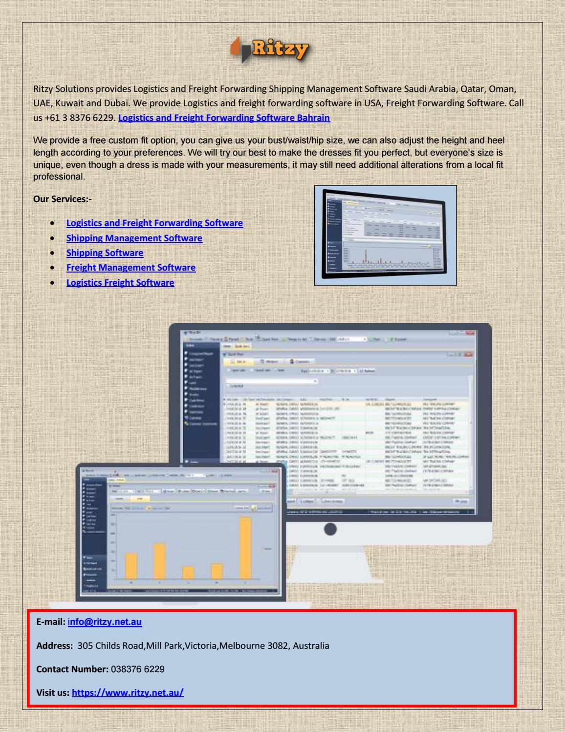 Logistics and freight forwarding software bahrain by Manor