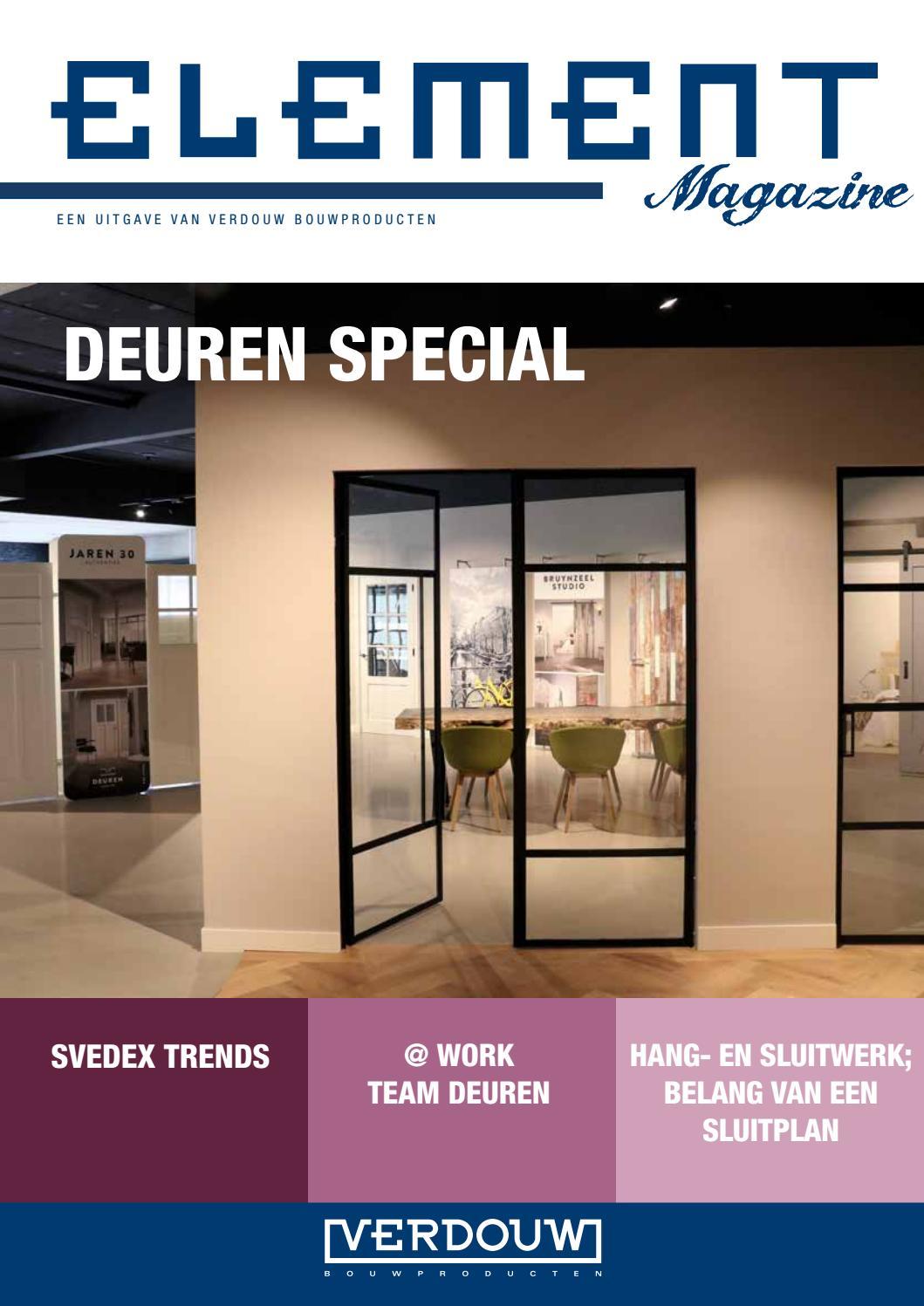 Element Deuren Special 2018 Verdouw Bouwproducten By