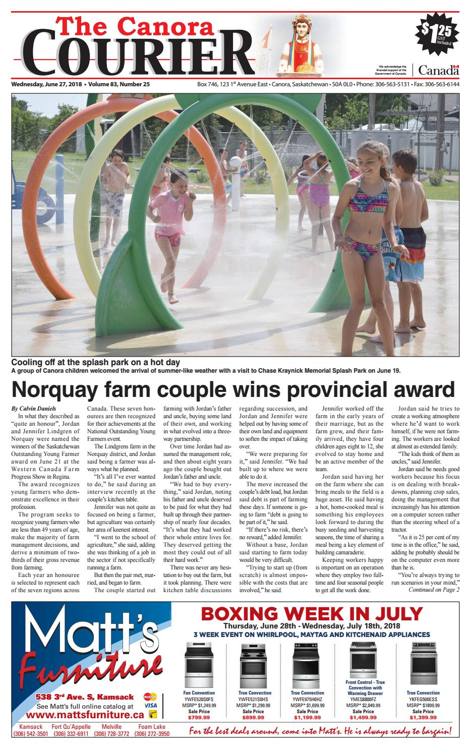 545a6e4ba49 Canora Courier 2018-06-27 by Canora Courier - issuu