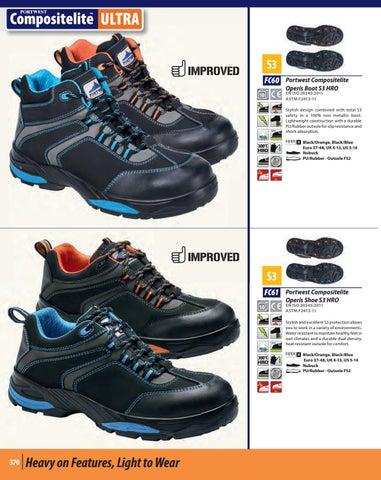 PortWest Men Compositlite Operis Boot S3 HRO Blk//Blue Varios Size FC60