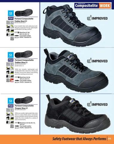 Portwest Compositelite Trouper Shoe Non Metallic S1 Composite Toe Hiker FC66