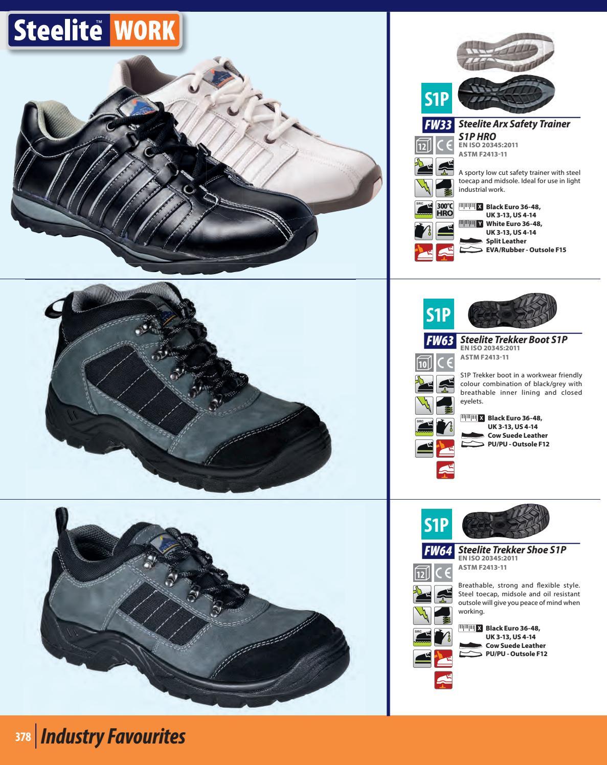 Portwest Steelite Arx Workwear Safety Trainer Shoe S1P HRO