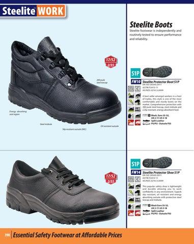 Portwest Steelite Protector Shoe S1P Steel Toe Midsole Leather Safety SRC FW14