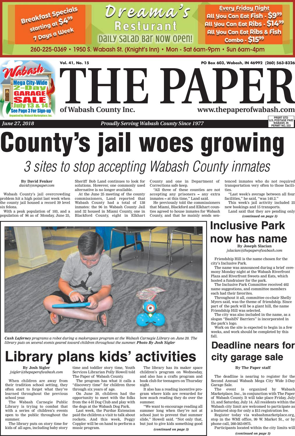 The Paper of Wabash County -- June 27 issue by The Paper of Wabash