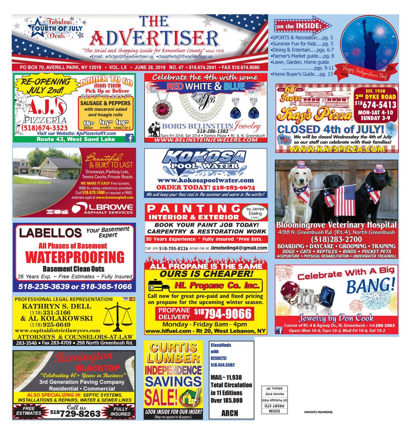 Advertiser North 062818 by Capital Region Weekly Newspapers