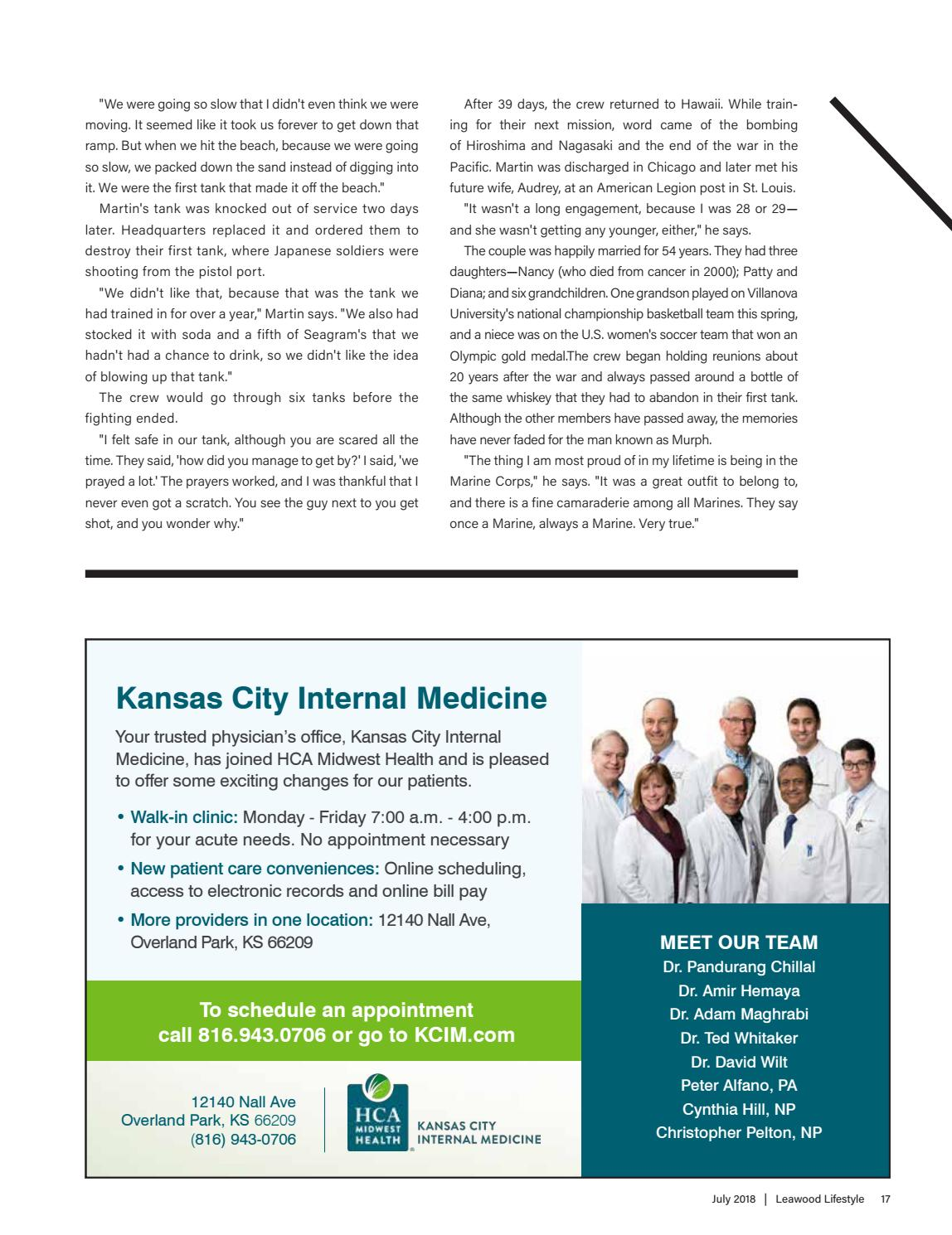 Kansas City Internal Medicine >> Leawood Ks July 2018 By Lifestyle Publications Issuu