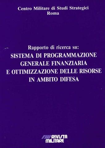 bc04d950c4 SISTEMA DI PROGRAMMAZIONE GENERALE E FINANZIARIA ED OTTIMIZZAZIONE ...