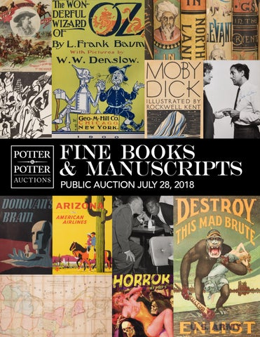 Fine Books Manuscripts By Potterauctions Issuu