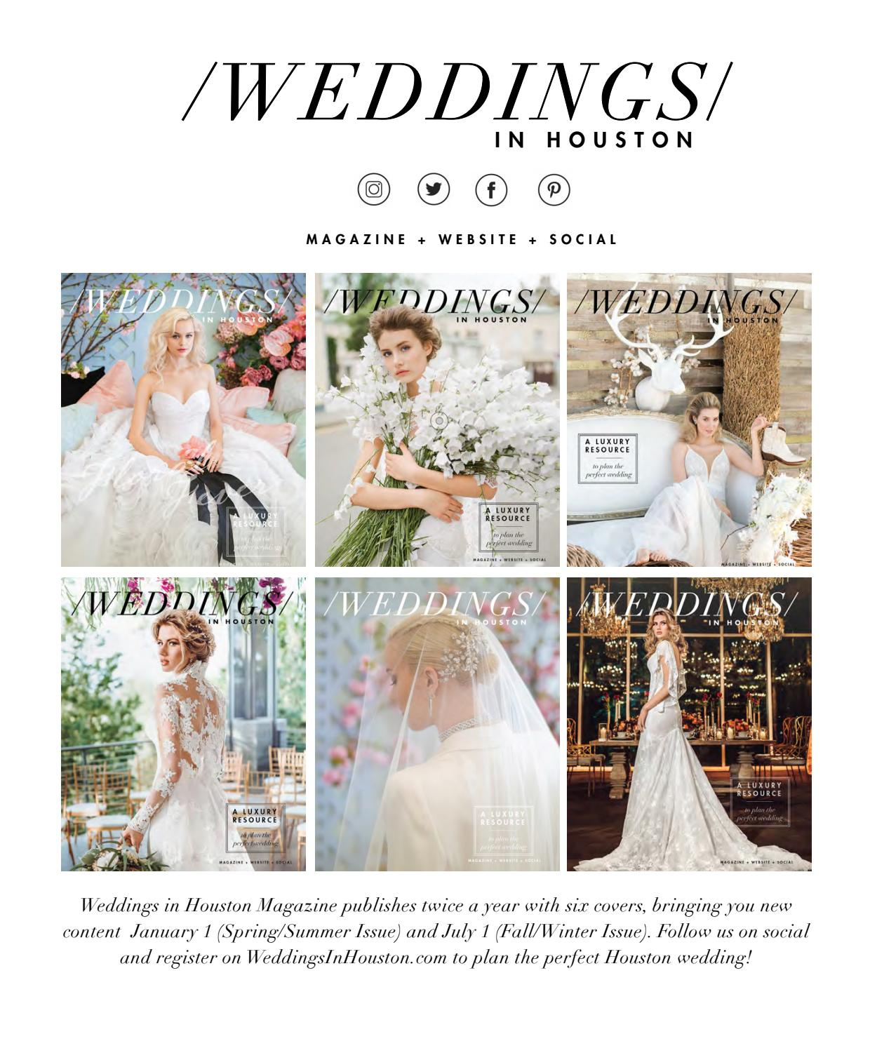 ea33be096 Weddings in Houston Fall - Winter 2018 Issue by Weddings in Houston ...