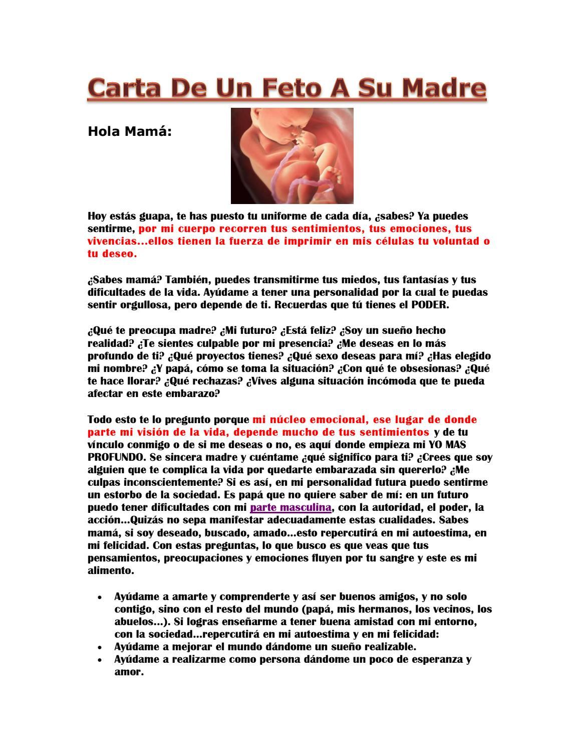 Carta De Un Feto A Su Madre By Gmail9926 Issuu
