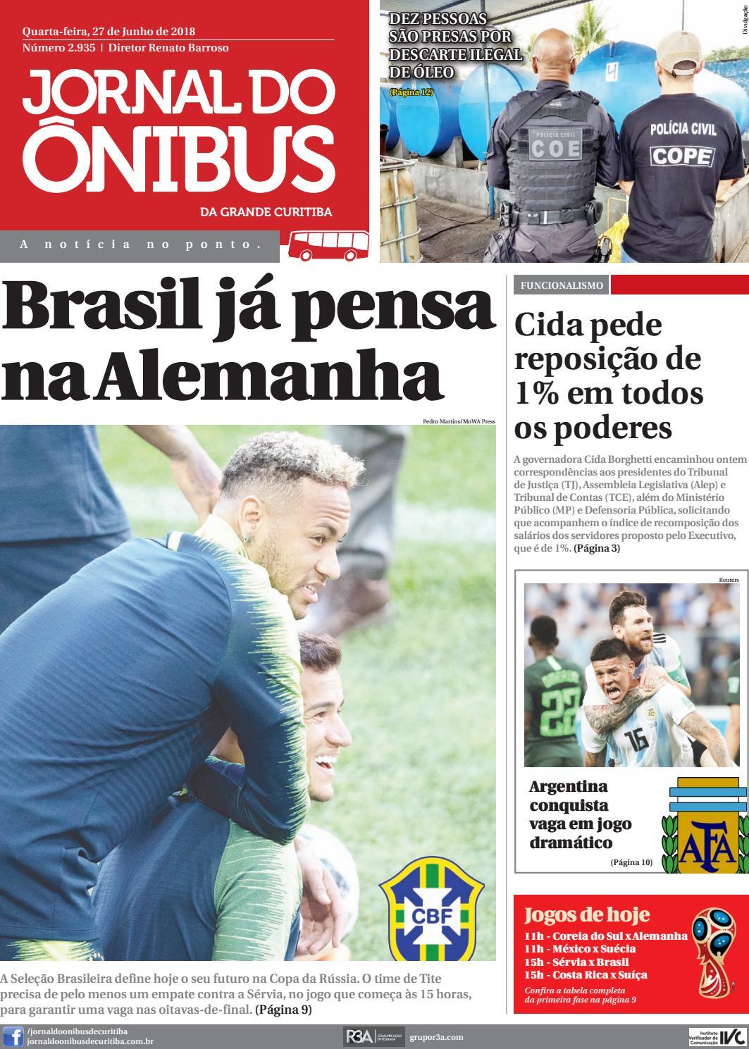 Jornal do Ônibus de Curitiba - 27 06 18 by Editora Correio Paranaense -  issuu 8c8c74b61ac45