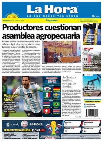tungurahua 27 de junio de 2018 by diario la hora ecuador issuu
