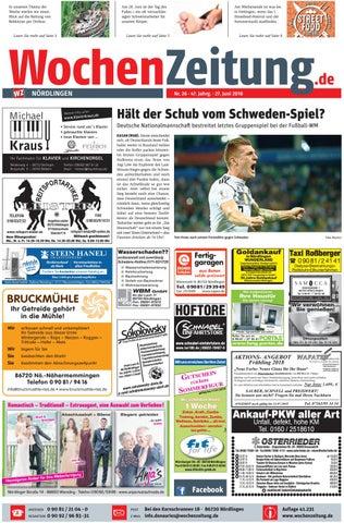 WochenZeitung Nördlingen KW 26.18 by WochenZeitung / SonntagsZeitung ...