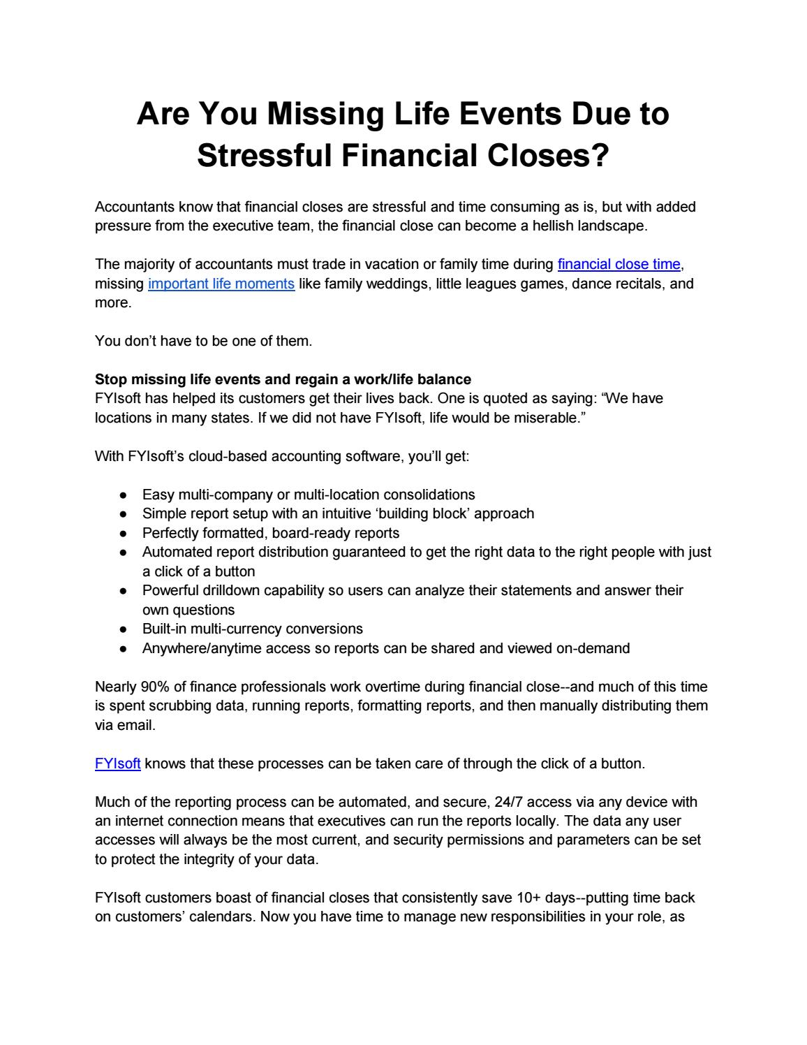 Are You Missing Life Events Due to Stressful Financial