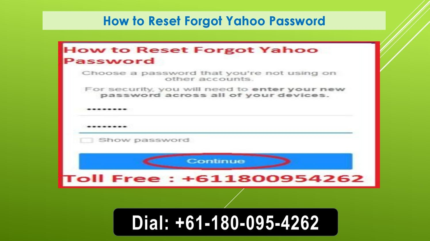 yahoo password forgot help