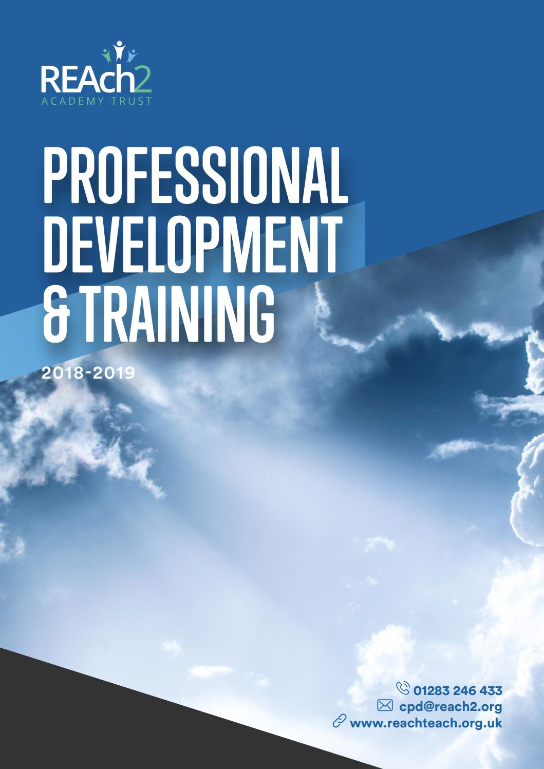 Reach2 Academy Trust >> Reach2 Professional Development And Training 2018 2019 By
