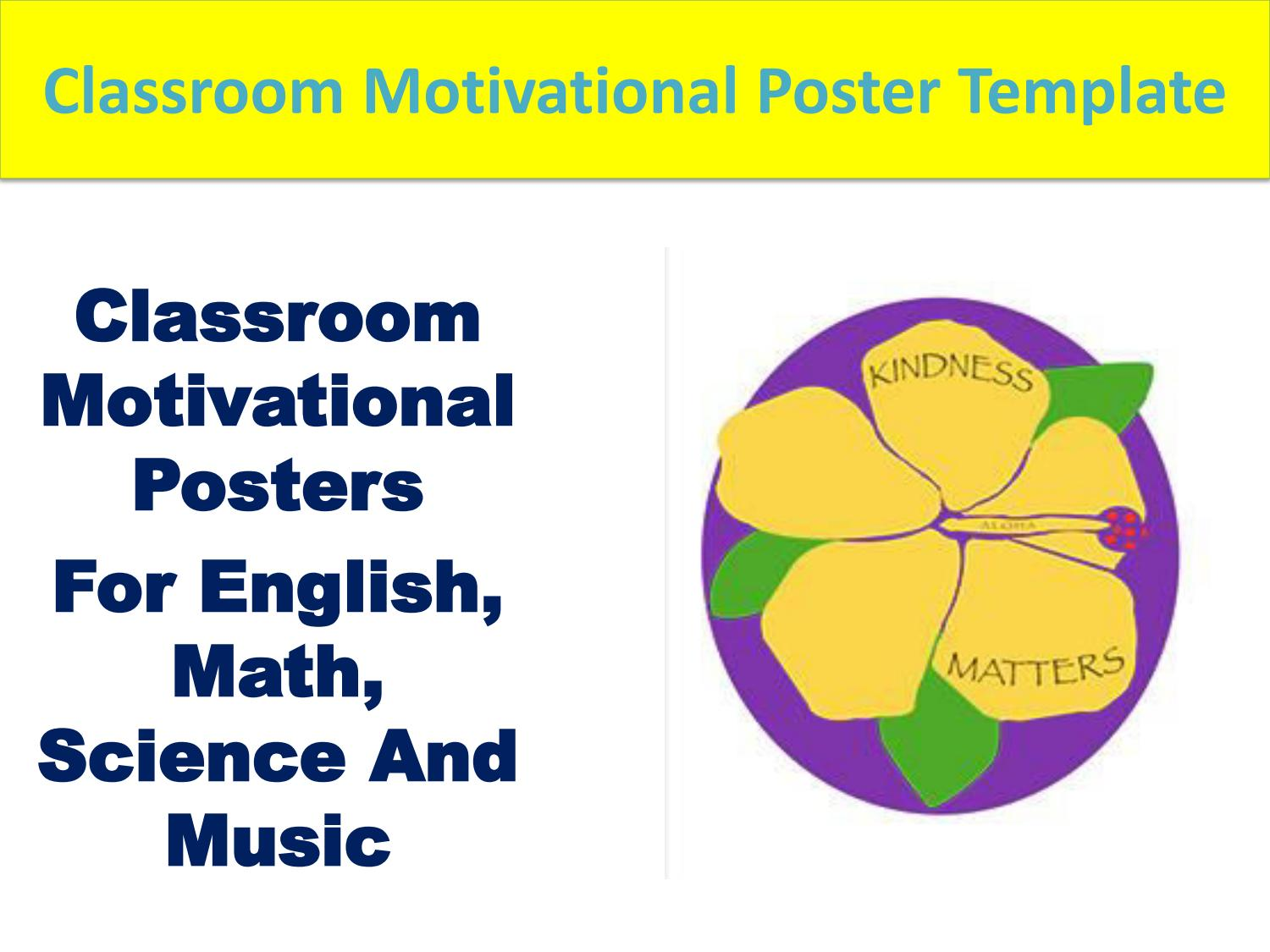 Classroom Motivational Posters By Kindness Matters Shop Issuu
