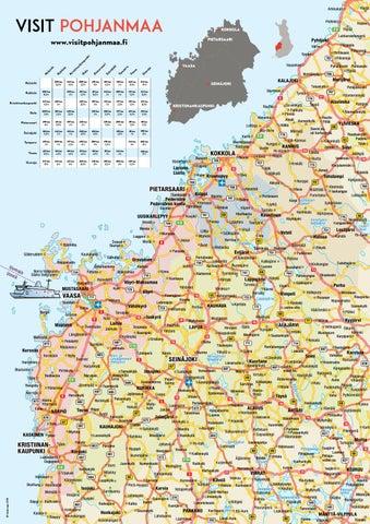 Visitpohjanmaa Kartta By Etela Pohjanmaan Matkailu Issuu