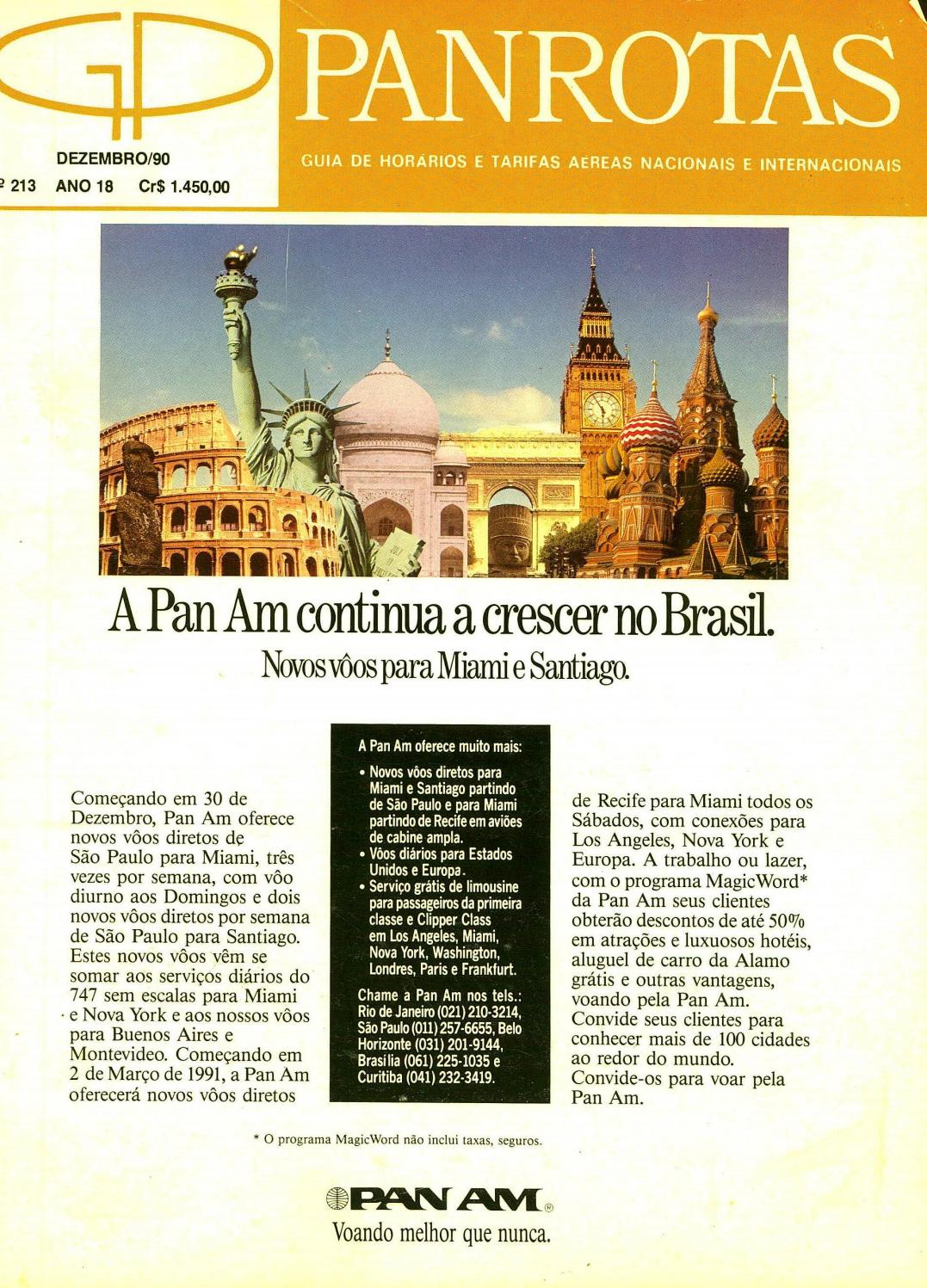 1723190b7 Guia PANROTAS - Edição 213 - Dezembro/1990 by PANROTAS Editora - issuu