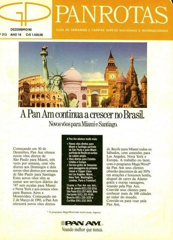 1afa6506d15 Guia PANROTAS - Edição 213 - Dezembro 1990 by PANROTAS Editora - issuu