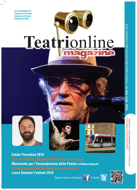 Teatrionline Magazine Summer 2018 By Redazione Issuu