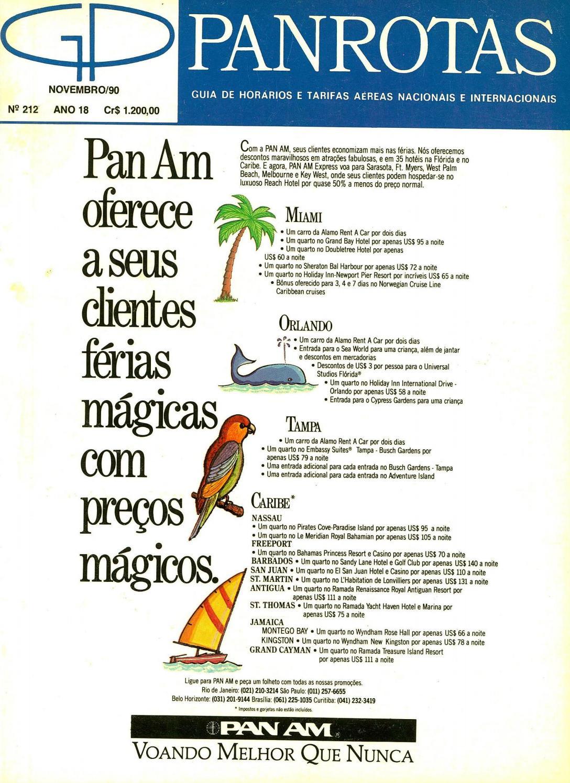 fdd8168b8 Guia PANROTAS - Edição 212 - Novembro 1990 by PANROTAS Editora - issuu