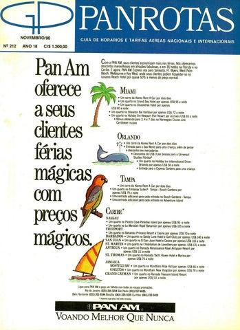 Guia PANROTAS - Edição 212 - Novembro 1990 by PANROTAS Editora - issuu 707489b4da