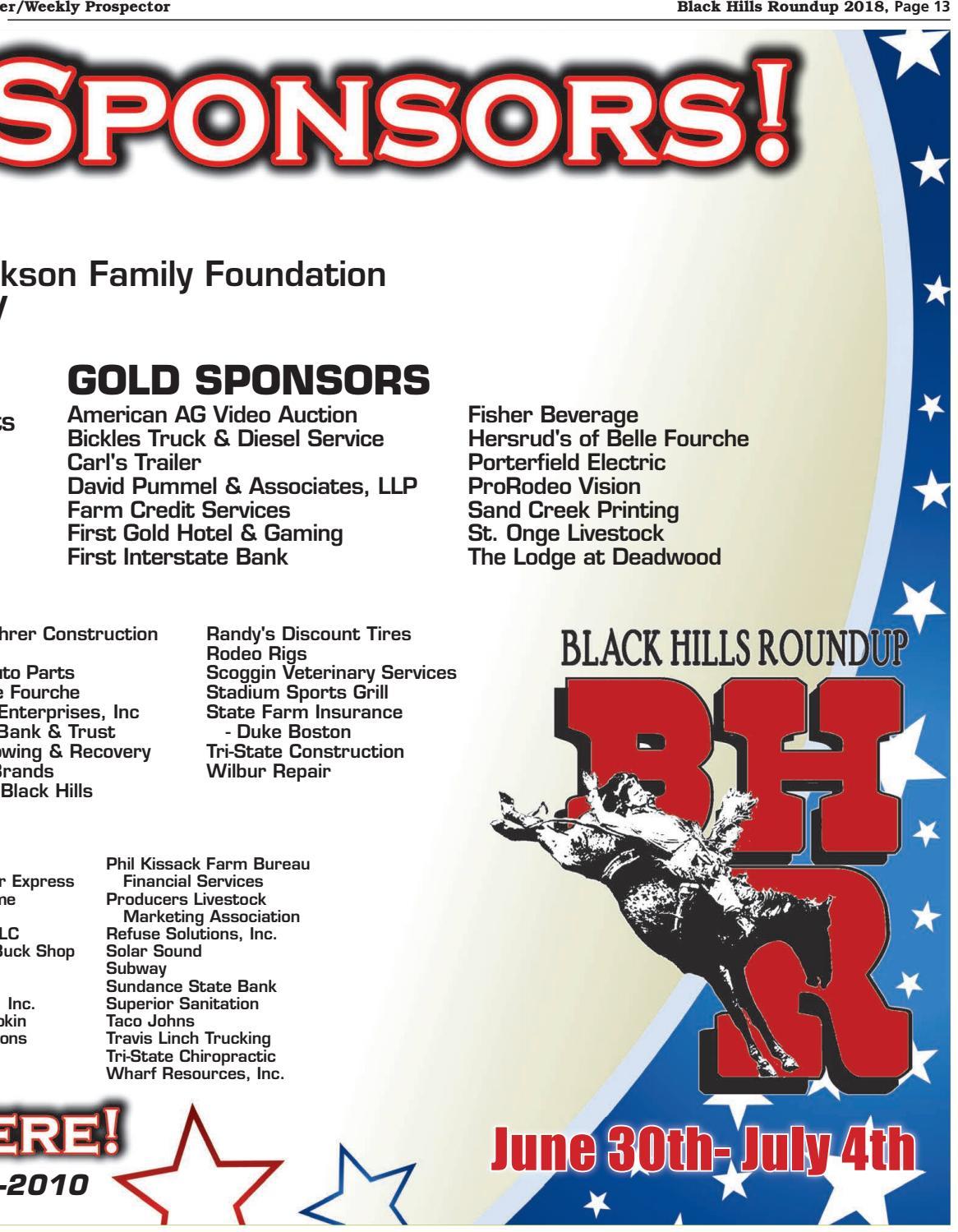 Black Hills Roundup 2018 by Black Hills Pioneer - issuu