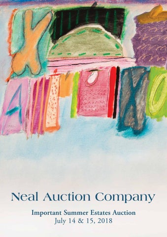 f04a3b9a4b8766 July 2018 Important Summer Estates Auction by Neal Auction - issuu