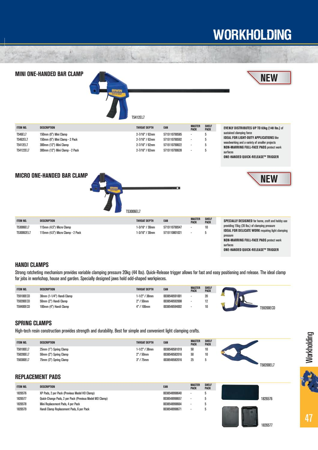 QUICK-GRIP® HANDI-CLAMP® IRWIN 100mm 38mm 50mm