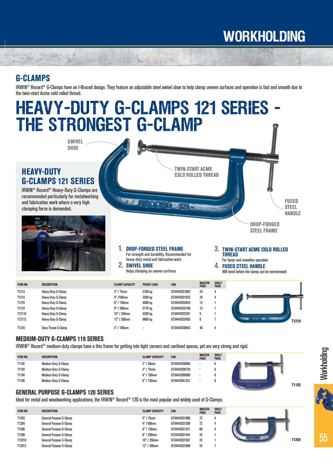 Irwin Record 119 Medium-Duty Forged G Clamp 2.in