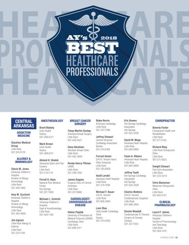 Ay's Best Healthcare Professionals 2018 by AY Magazine - issuu