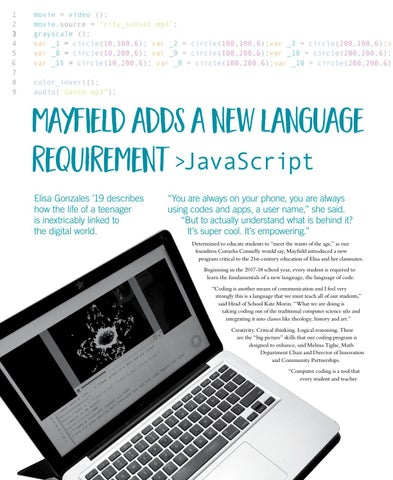 Page 14 of Mayfield adds a new language requirement > JavaScript