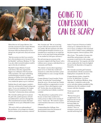 Page 20 of Going to Confession can be scary. Here's how Mayfield students are trying to change that.
