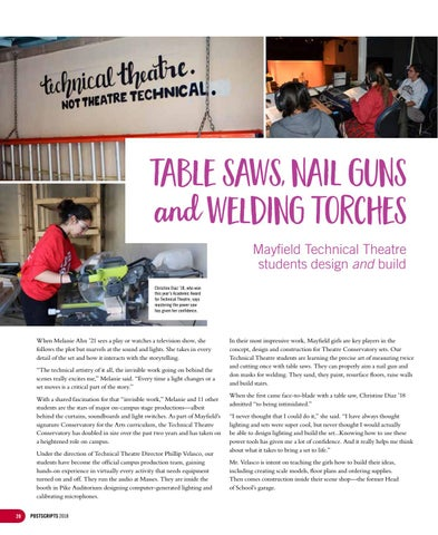 Page 28 of Table saws, nail guns and welding torches: Mayfield Technical Theatre students design and build