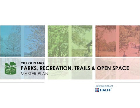 Plano Parks and Recreation Master Plan Draft by Plano Parks and