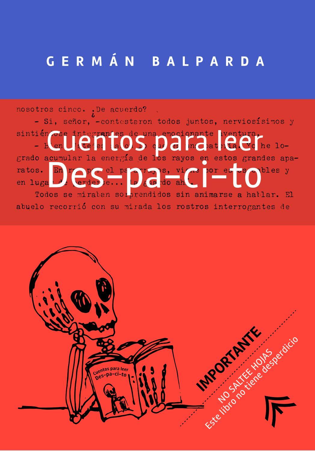 Cuentos para leer des-pa-ci-to. Germán Balparda by Anabella Corsi - issuu c97af77df40b
