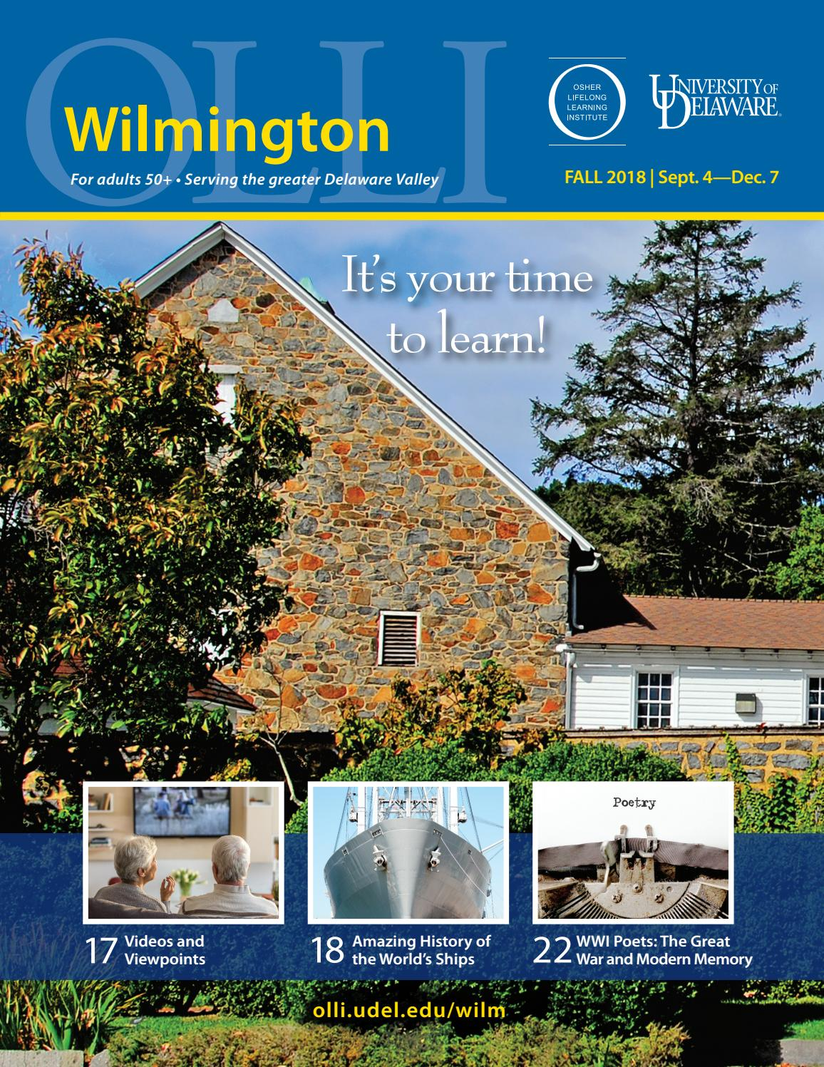 Casa & Co Milazzo ud osher wilmington catalog, fall 2018 by university of