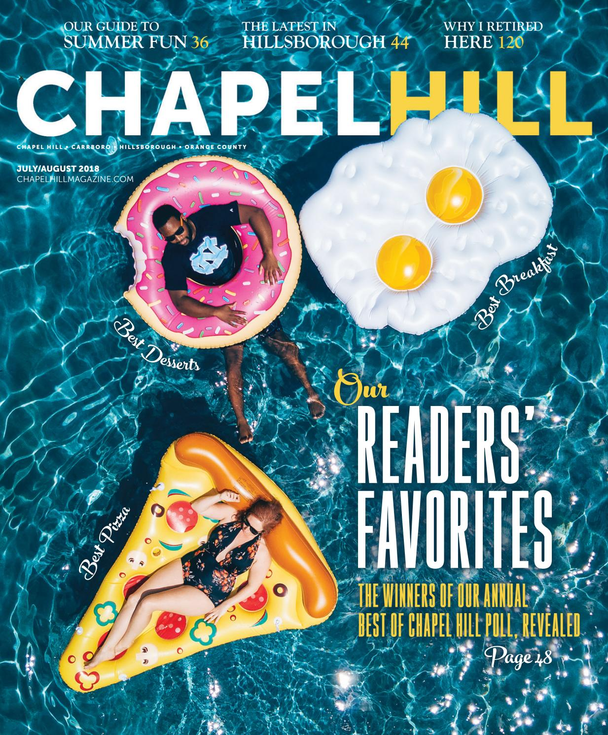 cf59a24def9 Chapel Hill Magazine July August 2018 by Shannon Media - issuu